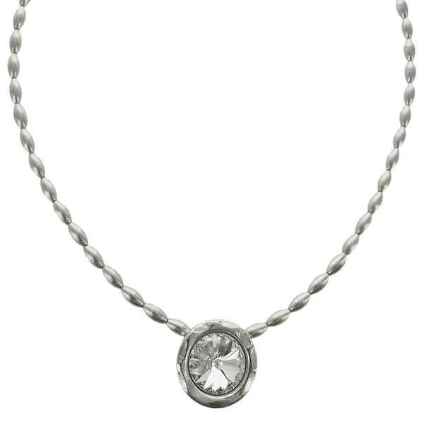Avant Garde Paris Clear Crystal Cherie Pendant Necklace