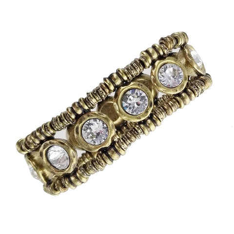 Avant Garde Paris Golden Cherie Crystal Bracelet Another View