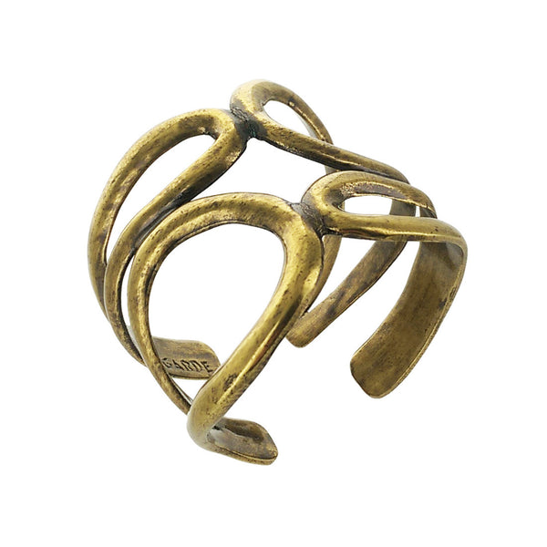 Avant Garde Paris Large Brass Clio Cuff