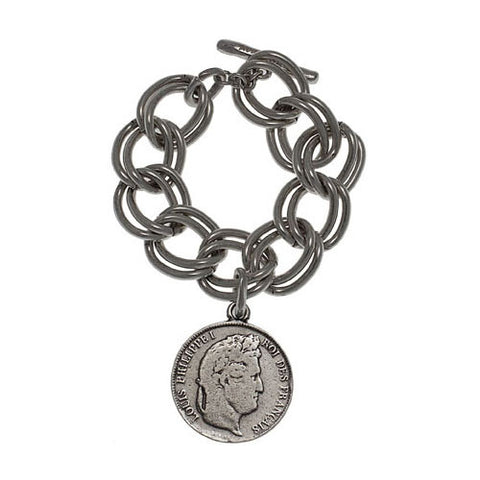 Avant Garde Paris Coin Bracelet Head Side