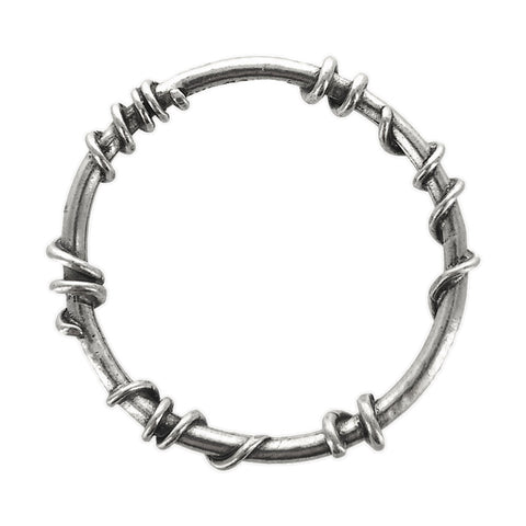 Avant Garde Vine Wrapped Silver Bangle Bracelet
