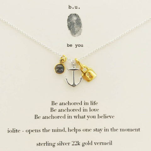 b.u. Be Anchored In Life Necklace