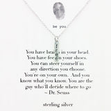 b.u. Dr. Suess Freedom Quote Necklace