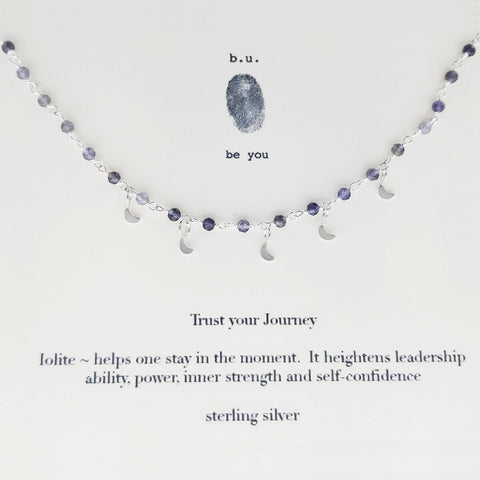b.u. Trust Your Journey Iolite Necklace