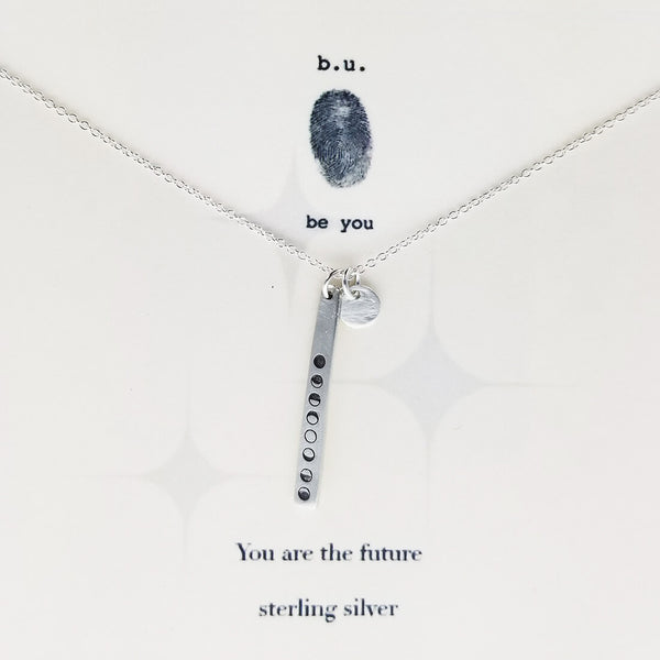 b.u. You Are The Future Necklace on Quote Card