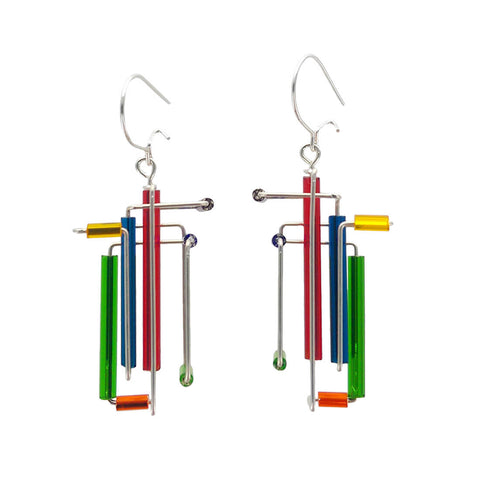 Barbie Levy Abstract Colorful 3D Earrings