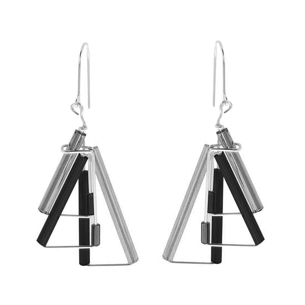 Barbie Levy Black Triangles Earrings