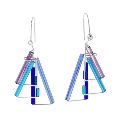 Barbie Levy Blues Triangles Earrings