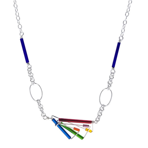 Barbie Levy Colorful Fan Necklace