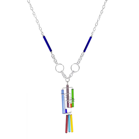 Barbie Levy Colorful Triple Drop Necklace