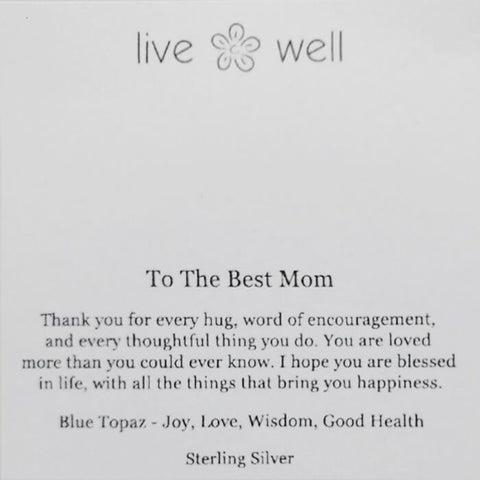 Best Mom Necklace By Live Well Card