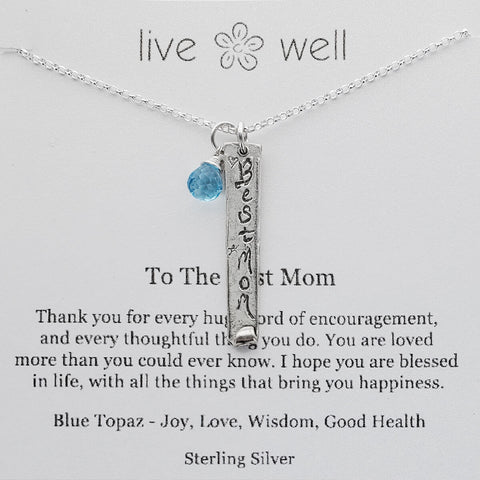 Best Mom Necklace By Live Well