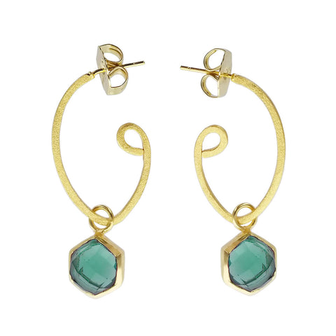 Betty Carre Aziza Aqua Hoop Earrings