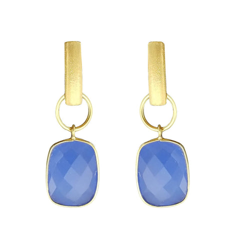Betty Carre Blue Chalcedony Bella Earrings