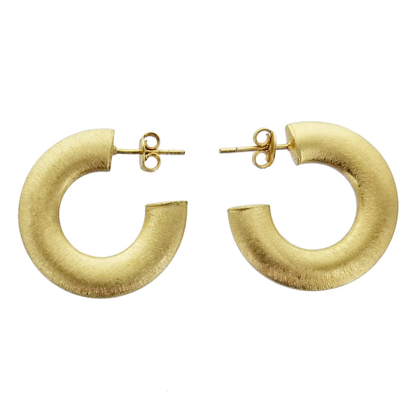 Betty Carre Brushed Gold Hoop Earrings