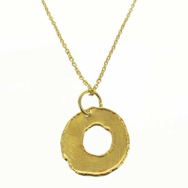 Betty Carre Organic Brushed Hoop Necklace