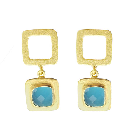 Betty Carre Ice Blue Kali Earrings