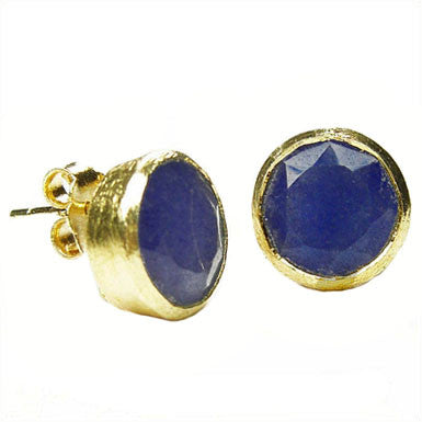 Betty Carre Round Gemstone Post Earrings