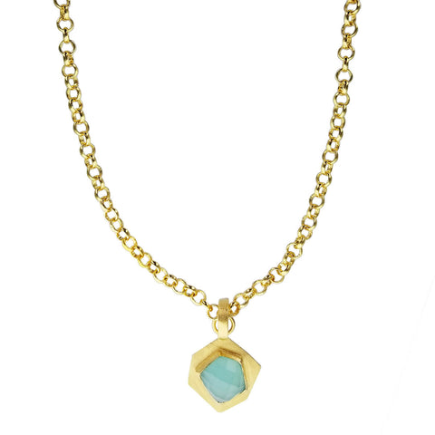 Betty Carre Six Side Aqua Gemstone Necklace