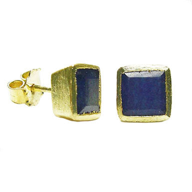 Betty Carre Square Gemstone Post Earrings