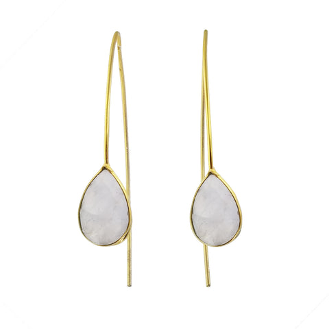 Betty Carre Faceted Moonstone Teardrop Earrings