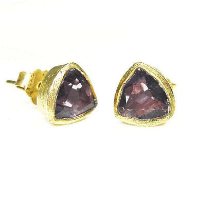 Betty Carre Triangle Gemstone Post Earrings