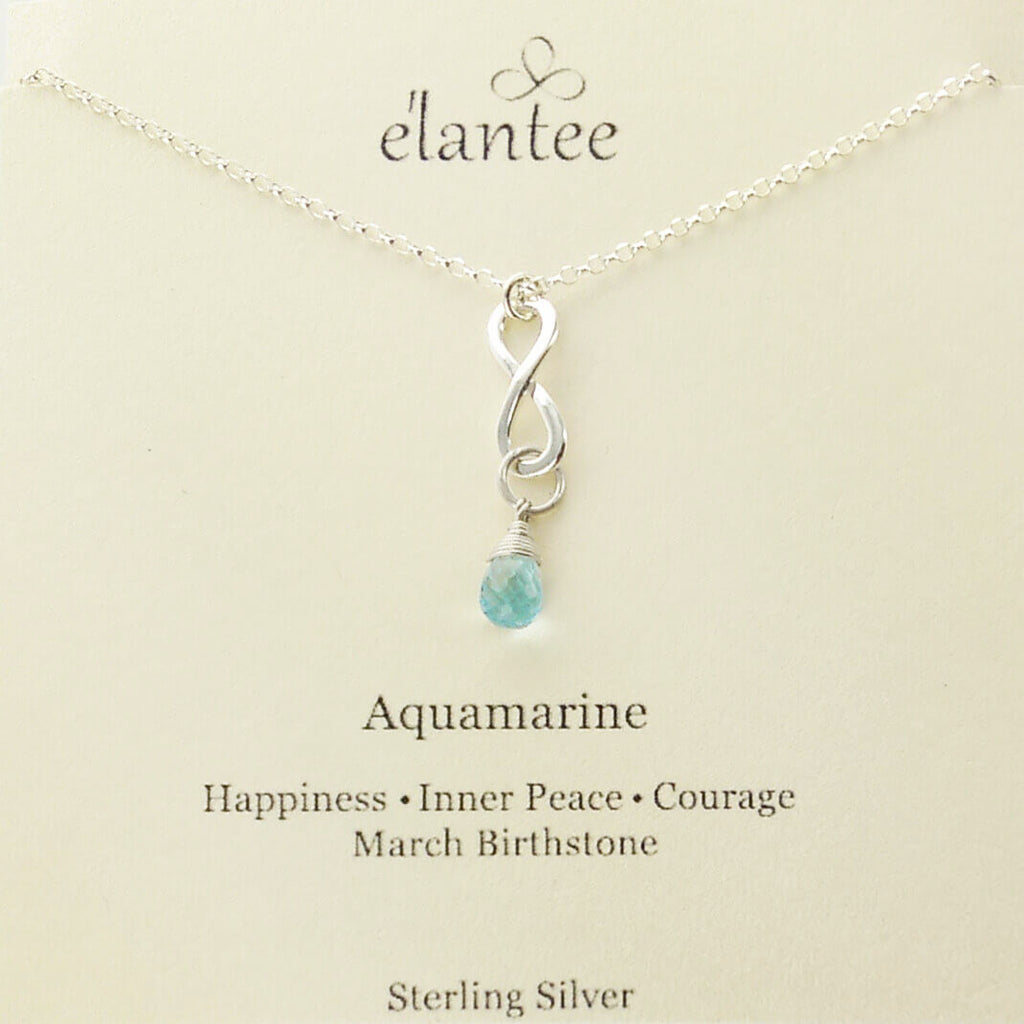 march necklace sterling infinity elantee jewelry oncard sheva products birthstone aquamarine