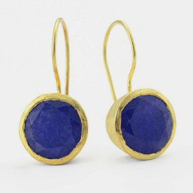 Betty Carre Blue Sapphire Earrings