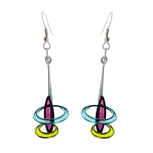 Christopher Royal Encircled Pendulum Earrings