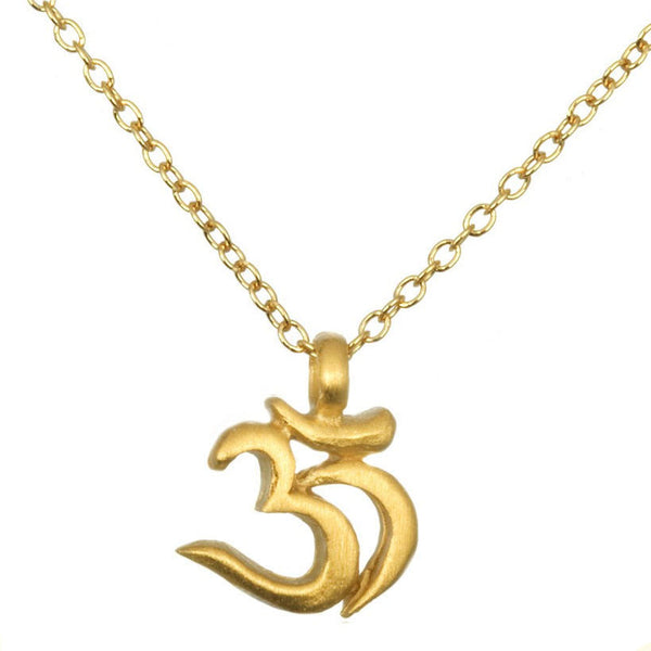 Gold Om Pendant Necklace