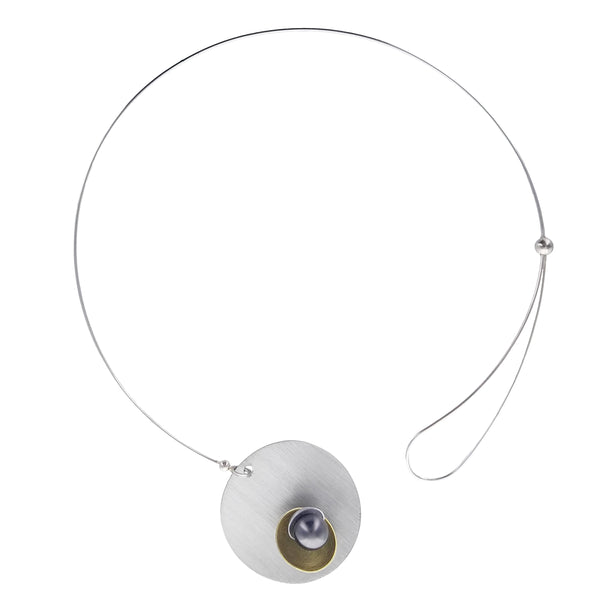Chick Boss Equinox Floating Pearl Necklace