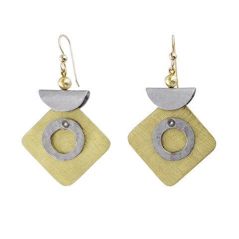 Chick Boss Folded Top Swing Earrings