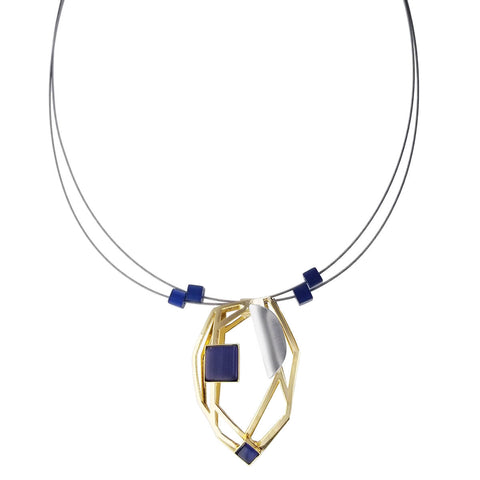 Christophe Poly 3D Matrix Pendant Necklace