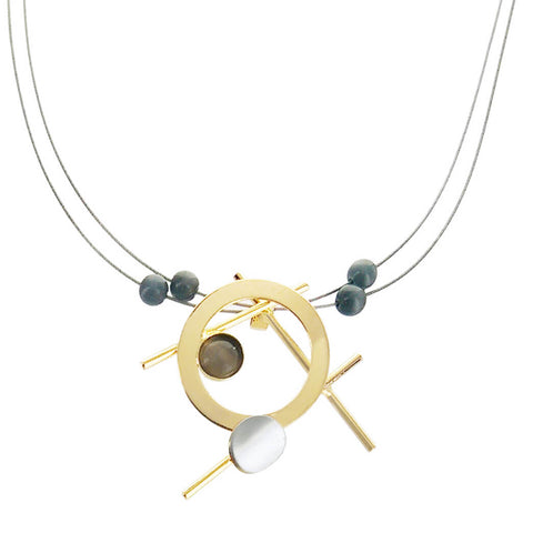 Christophe Poly Stems Circles Gold Silver Necklace