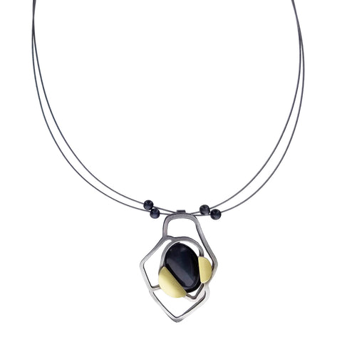 Christophe Poly Abstract Scarab Pendant Necklace