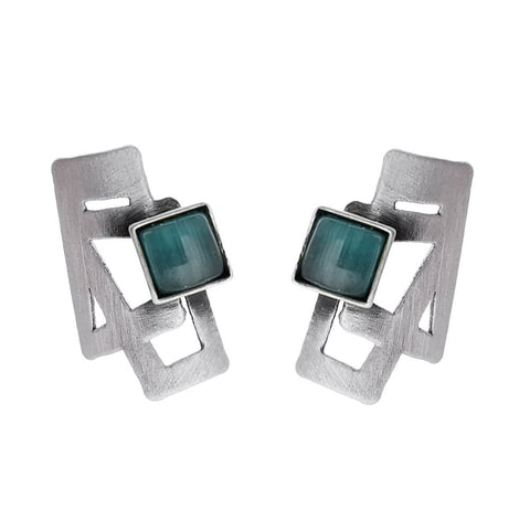 Christophe Poly Petite Abstract Squares Post Earrings