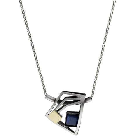 Christophe Poly Angular Pendant Chain Necklace