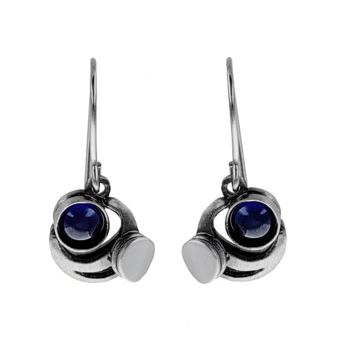 Christophe Poly Blue Concentric Circles Earrings
