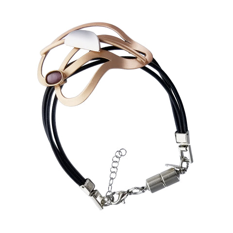 Christophe Poly Breezy Curves Leather Bracelet