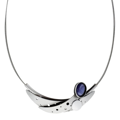 Christophe Poly Caressing Crescent Moons Necklace