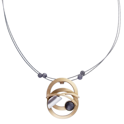 Christophe Poly Cascading Circles Necklace