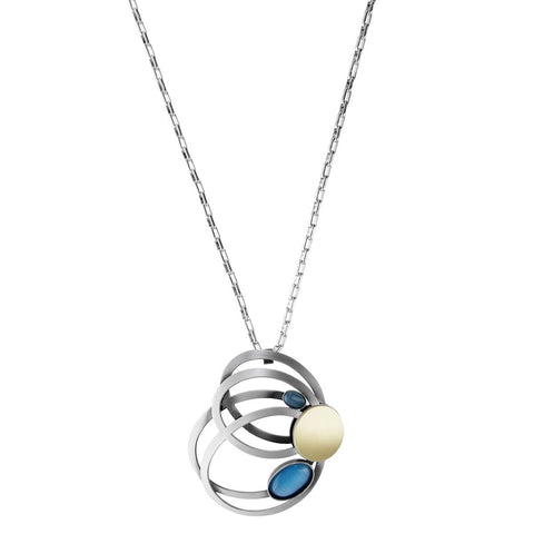 Christophe Poly Cascading Ovals Long Chain Necklace