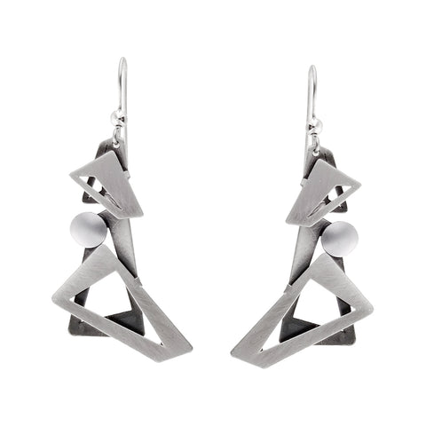 Christophe Poly Cascading Silver Earrings