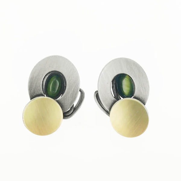 Christophe Poly Circle and Oval Post Earrings