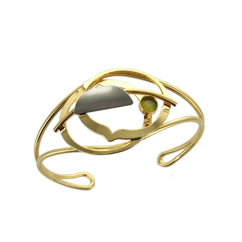 Christophe Poly Mostly Gold Circles Cuff