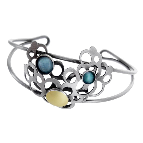 Christophe Poly Circles Blue Cloud Cuff Bracelet