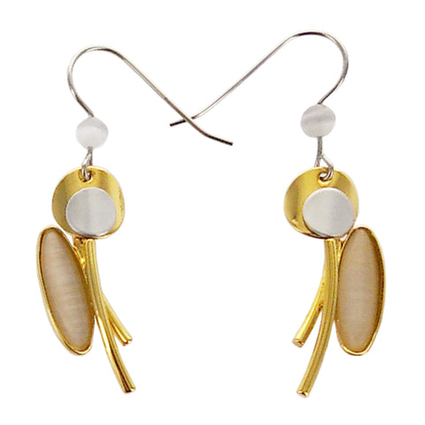 Christophe Poly Circles Stems Oval Earrings