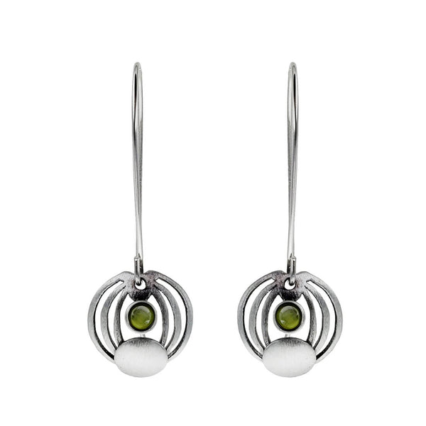Christophe Poly Concentric Circles Long Earrings
