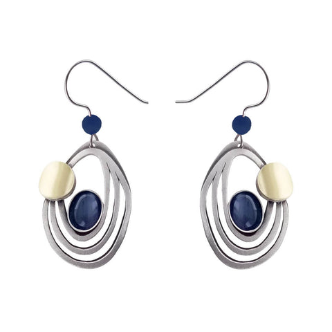 Christophe Poly Concentric Ovals Earrings