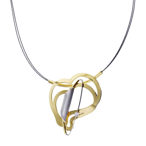 Christophe Poly Dancing Hearts Necklace